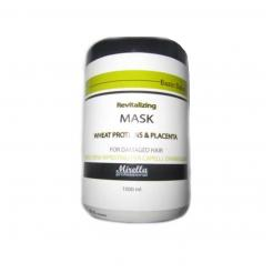 Восстанавливающая маска для волос с пшеничными протеинами и плацентой Mirella 1000 мл - Mirella Professional. цена, купить в Украине