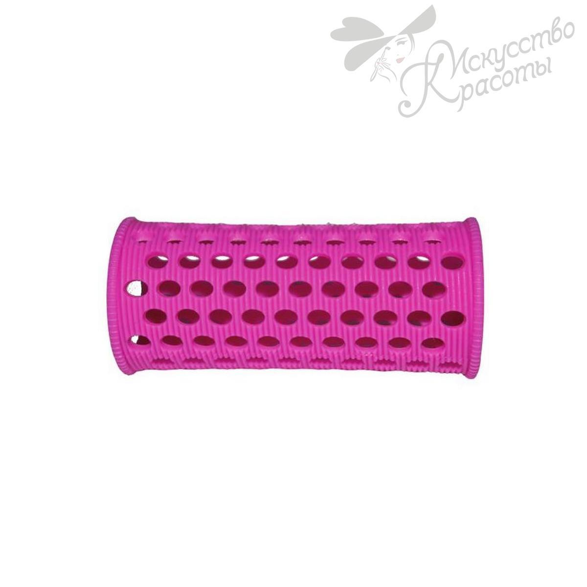 Бигуди пластмассовые D 28мм розовые TICO