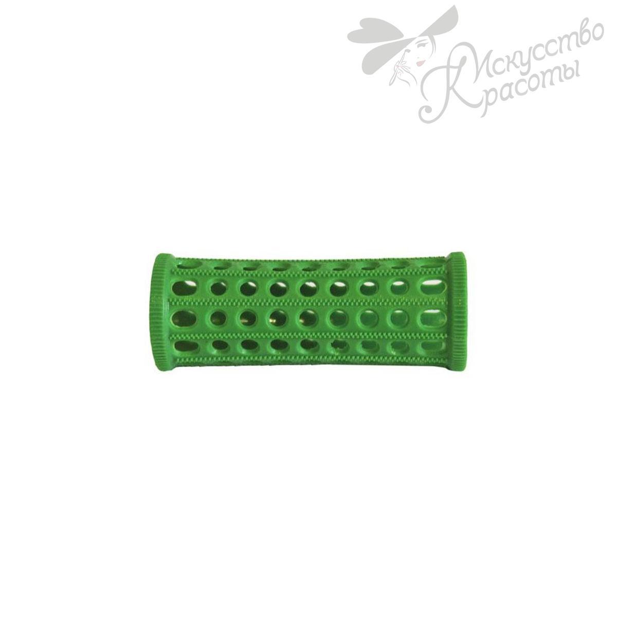 Бигуди пластмассовые D25мм зеленые TICO