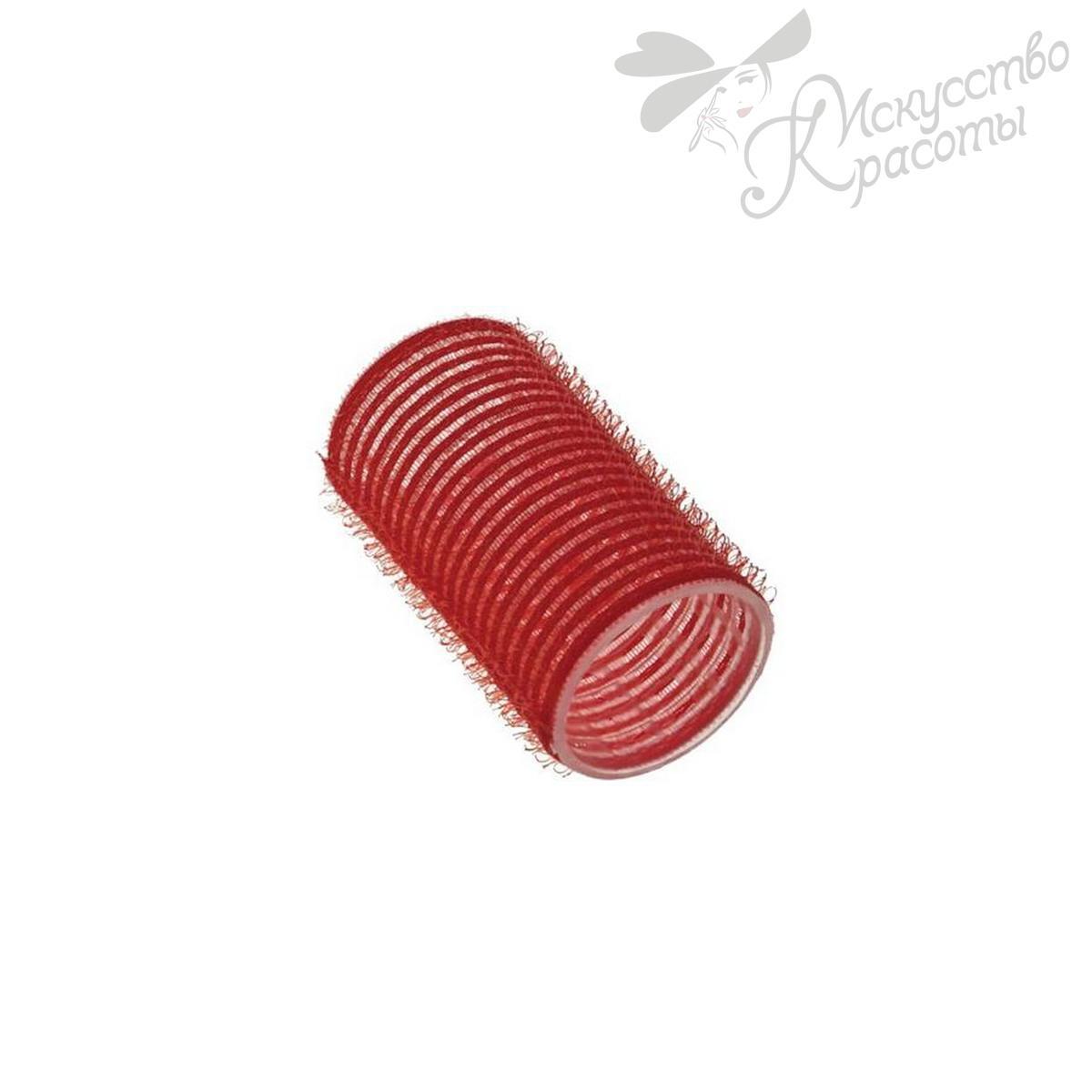 Бигуди-липучки красный D 33 мм TICO