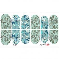 """Наклейка для ногтей """"Цветы"""" Nail OK - . цена, купить в Украине"""