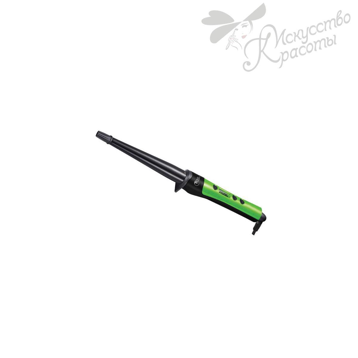 Плойка для волос зеленая TICO Conical 100200