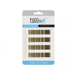 Невидимки коричневые 70 мм EUROstile 24 шт - EURO stil. цена, купить в Украине