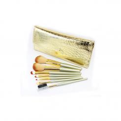 Набор кистей для макияжа 7 шт. в золотом чехле кожа GD7 - Make Up me. цена, купить в Украине