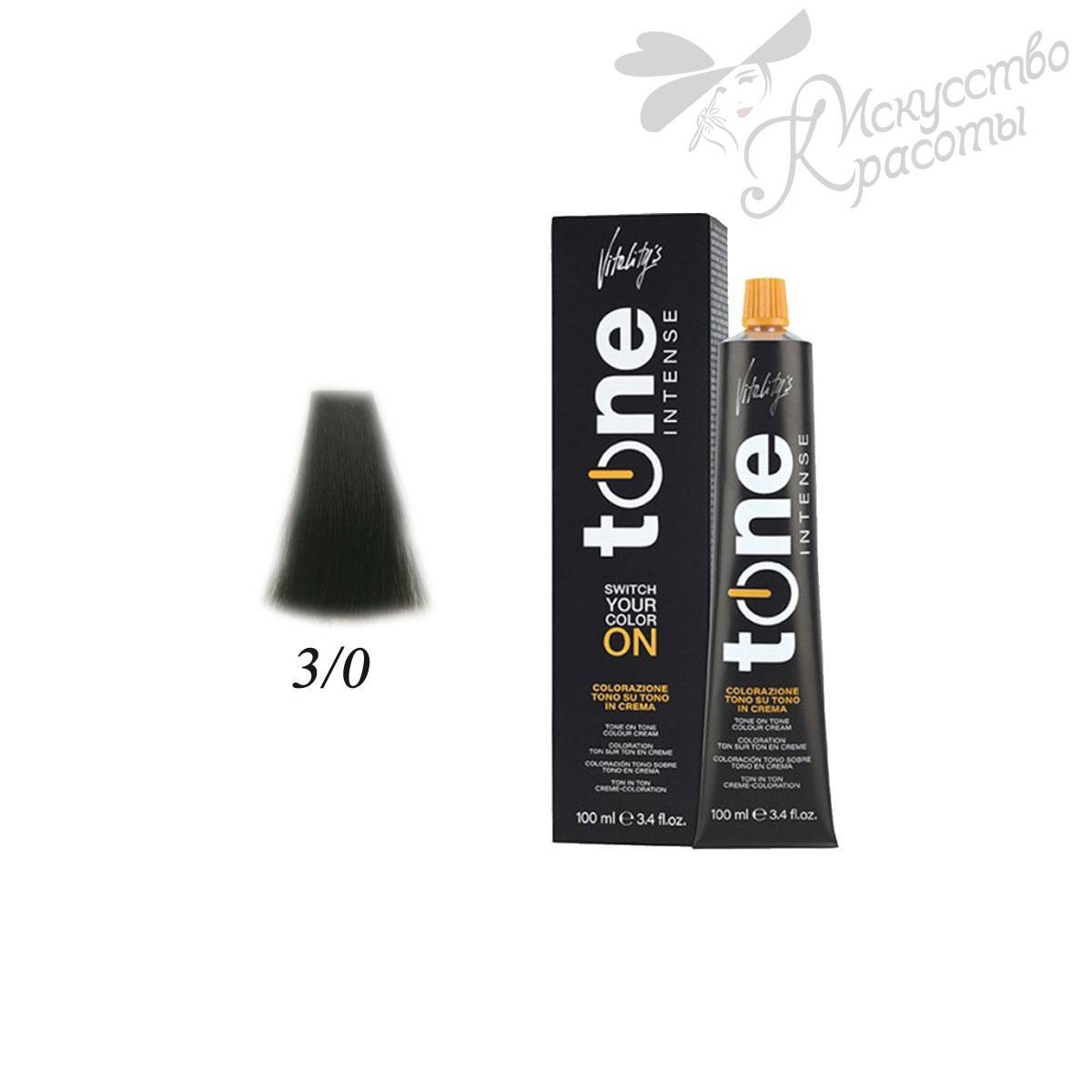 Краска для волос 3/0 темно-каштановый Tone Intense Vitality's 100мл