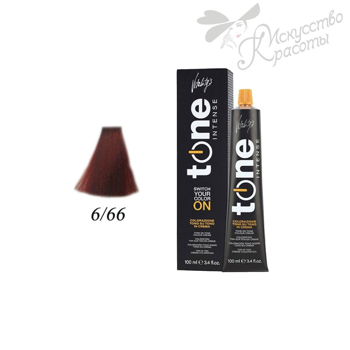 Краска для волос 6/66 насыщенный красный темный блонд Tone Intense Vitality's 100мл