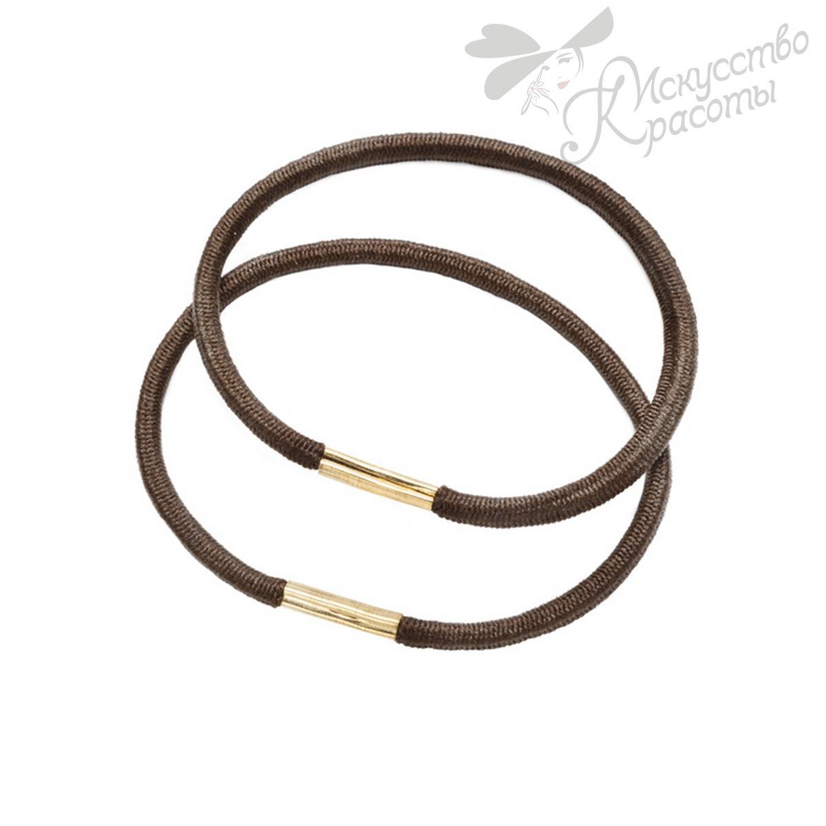 Резинки для волос коричневые EUROstil 1 шт
