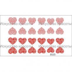 "Наклейка для ногтей ""Сердечки"" Nail OK - . цена, купить в Украине"