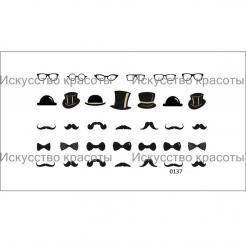 """Наклейка для ногтей """"Усы + шляпы"""" Nail OK - . цена, купить в Украине"""