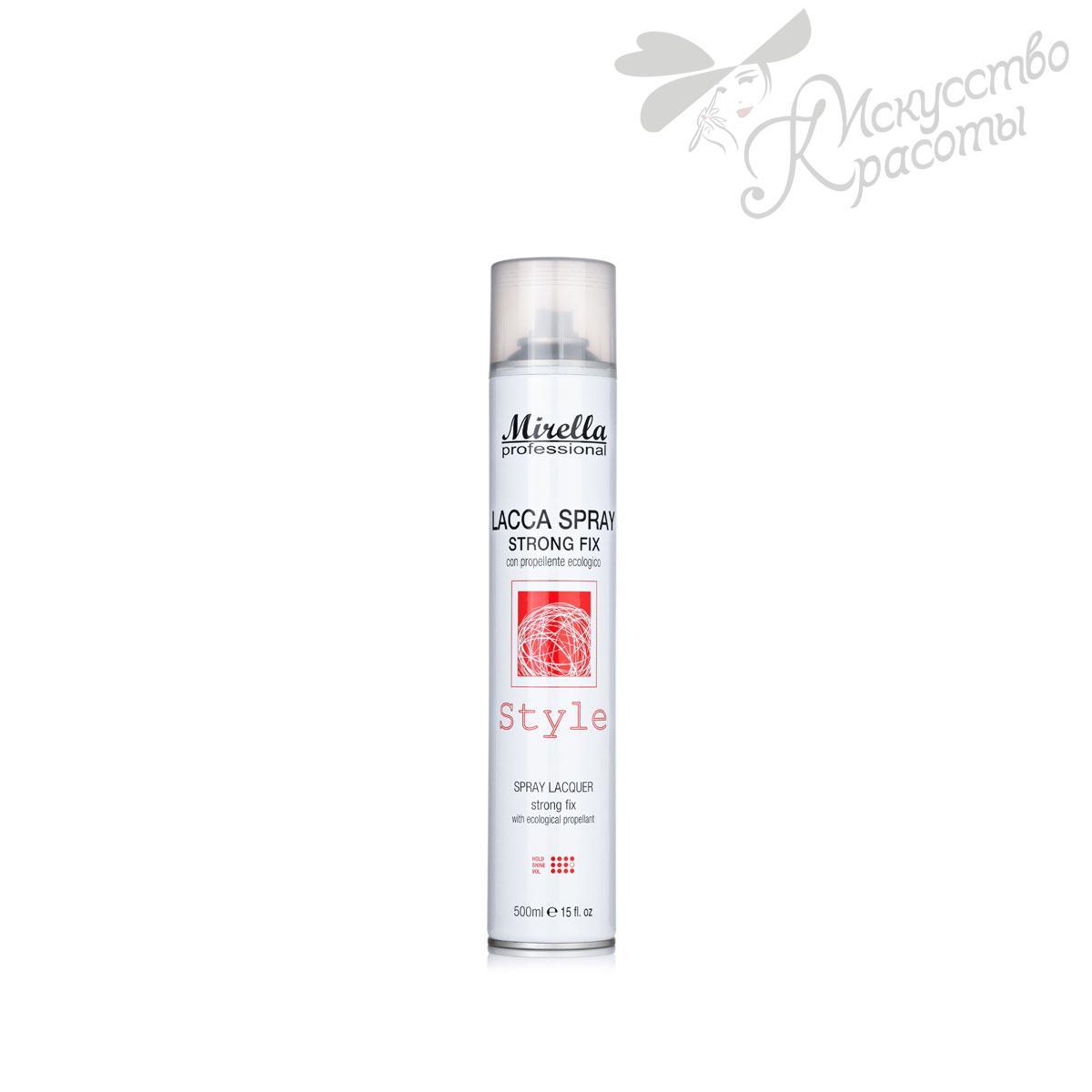 Mirella Лак-спрей сильной фиксации для волос 500 мл
