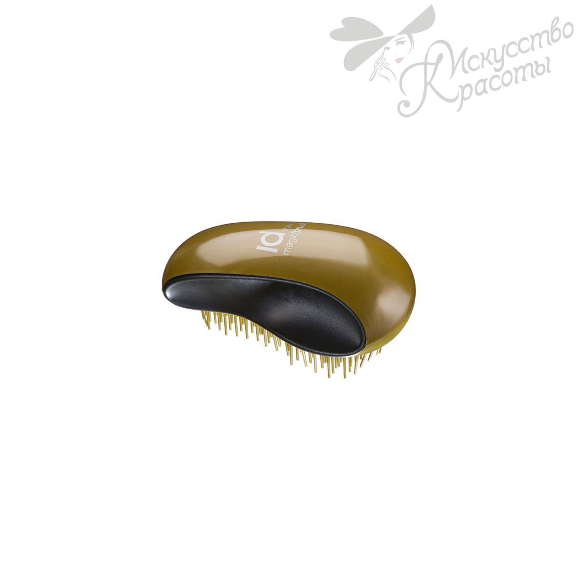 Мягкая щетка для щадящего расчесывания волос Золотая ID Hair Magic Brush