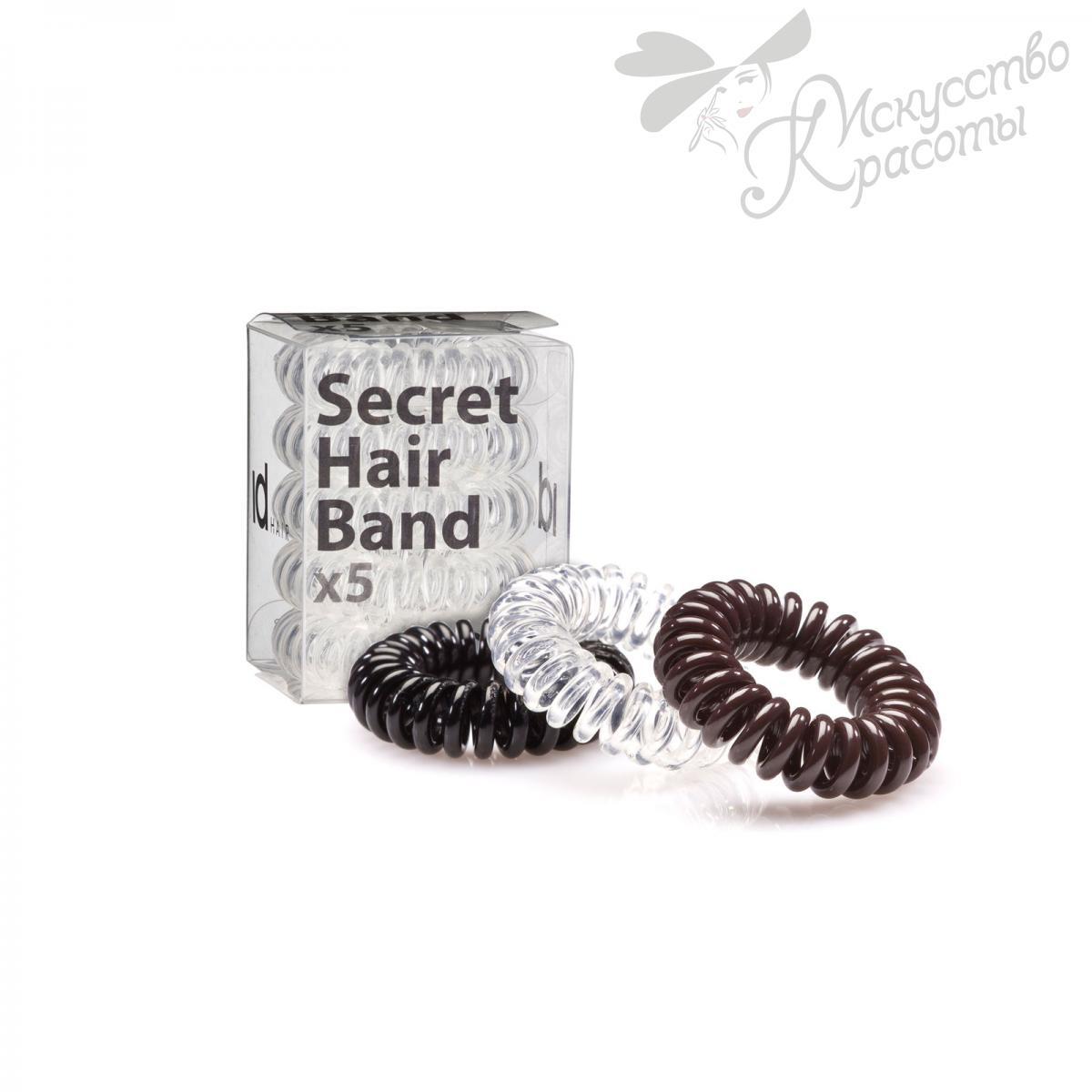 Резинки для волос коричневая ID Hair secret hair band