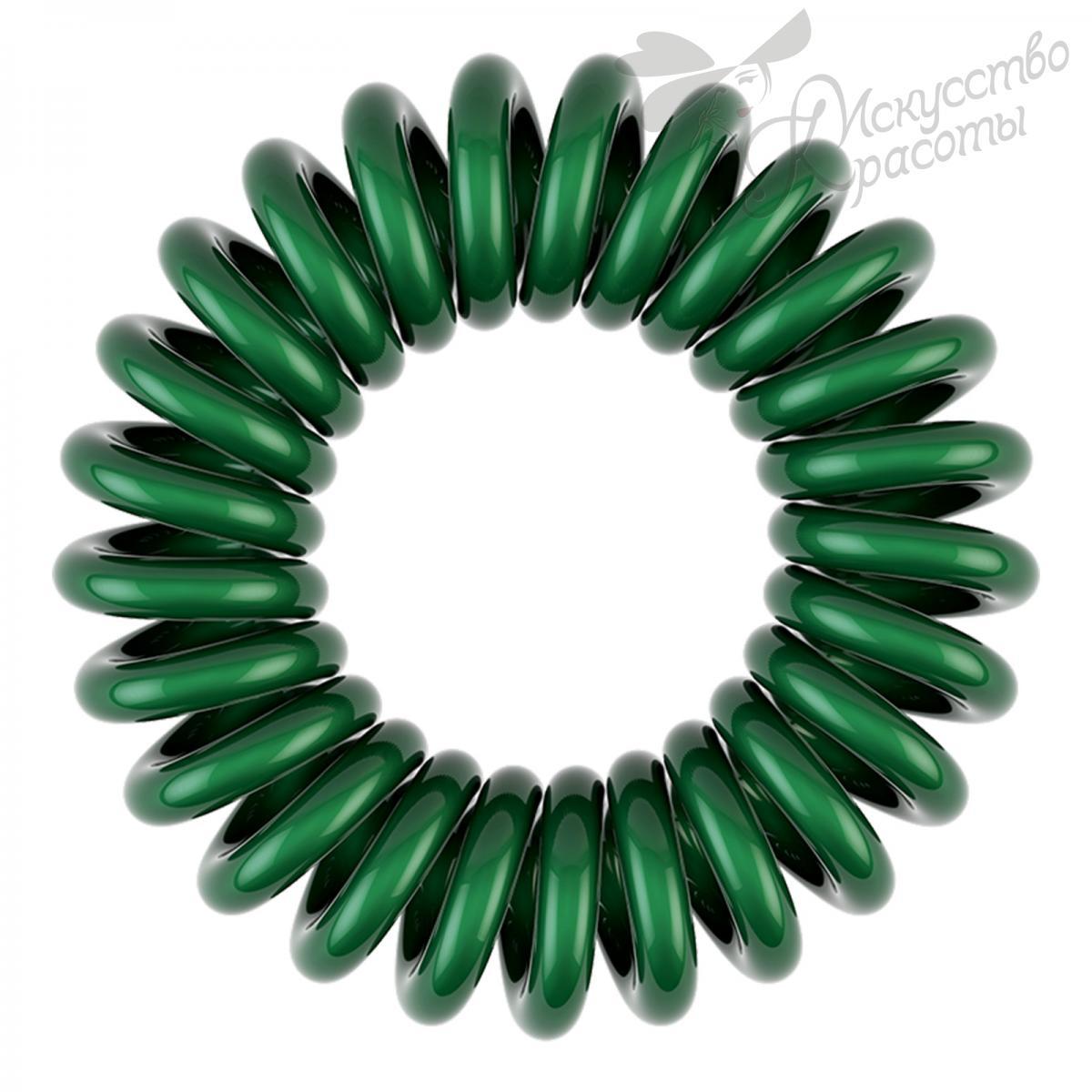 Резинка для волос темно зеленая EZ Bobbles 3шт/уп