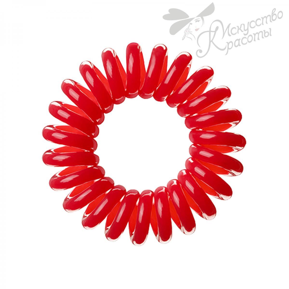 Резинка для волос красная EZ Bobbles 3шт/уп