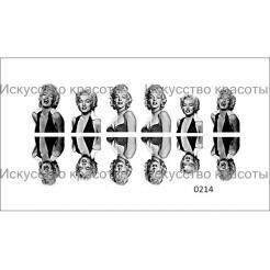 "Nail OK 0214 наклейка для ногтей ""Мерилин Монро"" - . цена, купить в Украине"