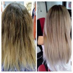 Окрашивание волос и кератиновое выпрямление